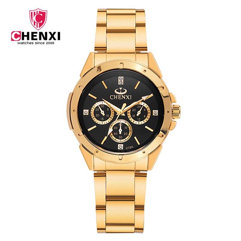 Luxury Brand CHENXI Women Gold Watch Business Stainless Steel 30 Meter Waterproof Lady Dress Watch Golden Female Casual Clock