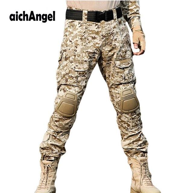 miglior servizio b4d0f f98b1 US $32.0 25% di SCONTO|AichAngeI Tattico esercito militare cargo pantaloni  da uomo pantaloni della tuta pantaloni pantaloni militari da combattimento  ...
