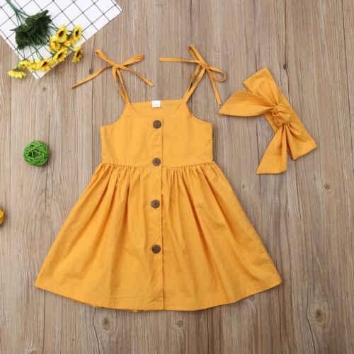 Không tay Mùa Hè Cô Gái Ăn Mặc Toddler Trẻ Em Bên Tutu Giản Dị Dresses Trang Phục 1-6Y
