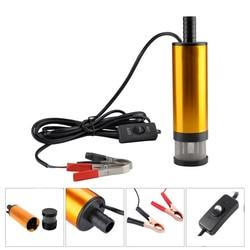 Bomba sumergible eléctrica de 12 V para coche, bomba sumergible de transferencia de aceite de combustible Diesel con interruptor de encendido/apagado, motor de aceite bomba de transferencia de