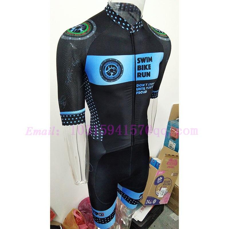 Vêtements sur mesure bleu jaune noir hommes cyclisme patinage lycra triathlon VTT speedsuit trisuit corps costumes porter combinaison