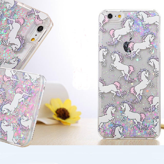 iphone 7 phone cases unicorn glitter