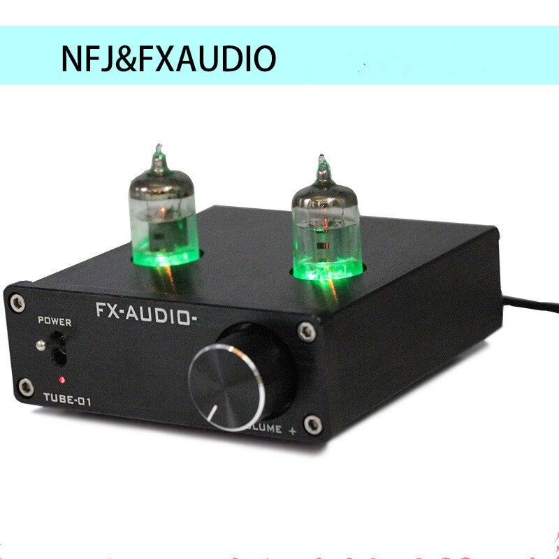Nouveau FX-AUDIO TUBE-01 Bile Préampli Tube Amplificateur Préampli Tampon 6J1 Numérique HIFI Audio Préamplificateur Preamplificador DC12V 1A Puissance