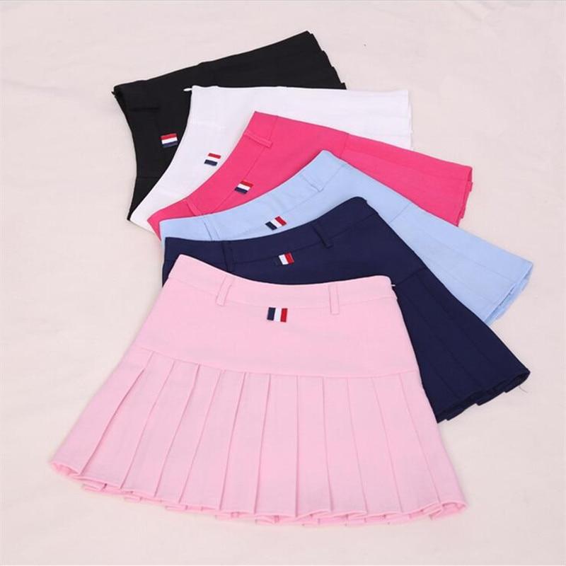 c0c10019 US $9.66 12% OFF|Harajuku kobiety piłka plisowana spódnica szkoła jednolity  styl 2018 wiosna lato Plus rozmiar koreański dziewczyny linia wysokiej ...