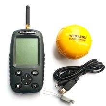 FF998 Fish finder Upgrade English/Russian menu Rechargeable Waterpoof Wireless Fishfinder Sensor 125KHz Sonar Echo Sounder