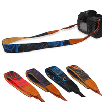 الأزياء كاميرا حزام الكتف الرقبة حزام حزام ليوبارد سلسلة ل slr dslr كانون نيكون سوني باناسونيك حقيقية الجلود + القطن