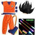 Dragon Ball GoKu Cosplay Traje Adulto/Niño de Anime cosplay ropa Top + pantalones + muñeca + tapa de la zapata + cola + palo + peluca + cinturón