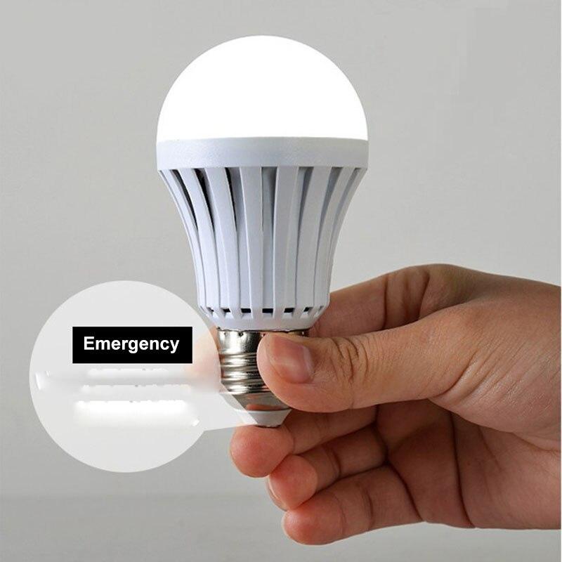 Emergency Light E27 Bulb 9w LED emergency lamp Top Quality 110V 220V led light Cold White 6500K .50PCS /Lot, Free shipping