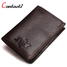 CONTACT'S Men Wallets Male Clutch Bag Genuine Leather Wallet Coin Purse Credit Card Holder Men Small Purse Luxury Men's Wallets цена в Москве и Питере
