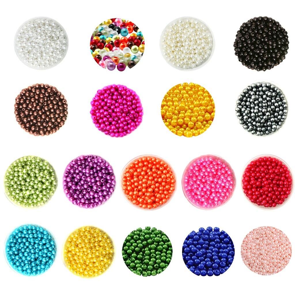 Искусственный жемчуг из пластика шт. 6 мм шт. мм круглый 500 Spacer бусины для DIY ювелирных изделий
