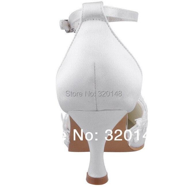 Pointu Femmes Hauts Chaussures Sangle De Talons A1049 Satin Blanc En Pompes Mariée Bout Cheville Robe Bal Appliques Mariage Partie Ivoire Dame 8ggqfw