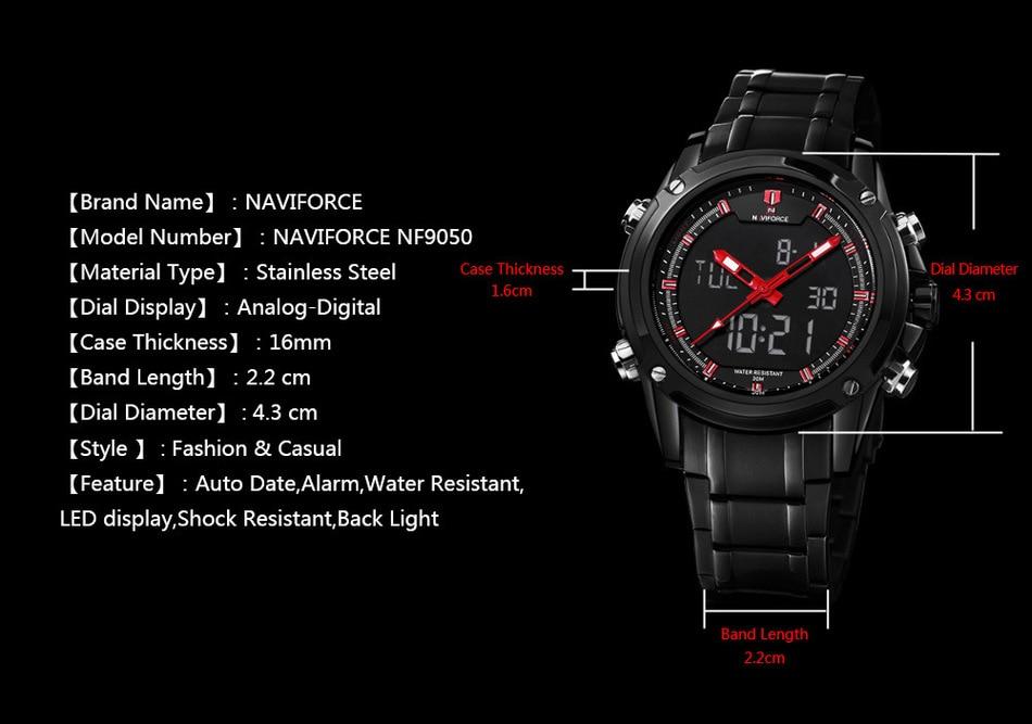 Image result for NAVIFORCE NF9050 Luxury Men Quartz Watch