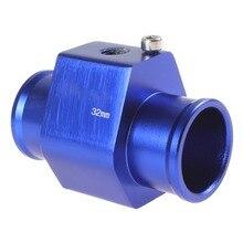 New Water Temperature Temp Sensor Guage Adapter 28mm Aluminium with Clamps car water temp temperature sensor gauge joint pipe radiator adapter 28mm 30mm 32mm 34mm 36mm 38mm 40mm