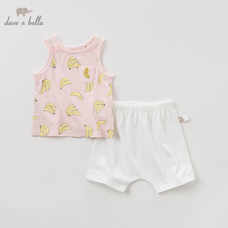 DB10473 Dave bella summer baby girl clothing sets cute fruit print children suits infant high quality clothes girls outfit DB10473 Dave bella summer baby girl clothing sets cute fruit print children suits infant high quality clothes girls outfit
