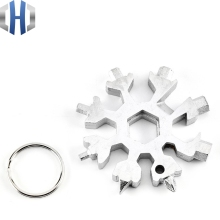 18-in-1 Multi-tool Card Combination Compact And Portable Outdoor Products Snowflake Tool With Key Ring