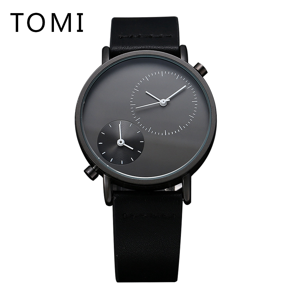 Tomi Brand 2017 High Quality Fashion Simple Watches Wen Luxury Leather Watchband Quartz Business Sport Male New Gift Clock T007 hand made natural wood mens quartz watch wooden watchband bracelet clasp simple design dial high quality male watches gift