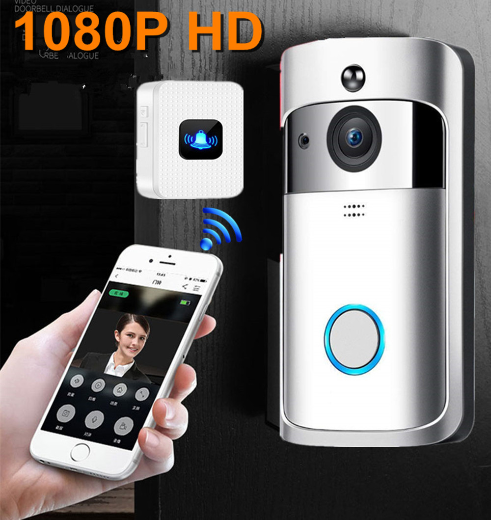 Video doorbell wifi wireless ip camera security 1080P HD smart waterproof night vision home video intercom/doorbell system      -in Video Intercom from Security & Protection
