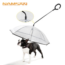 Transparent pet umbrella dog supplies manufacturers direct adjustable rainy day leash