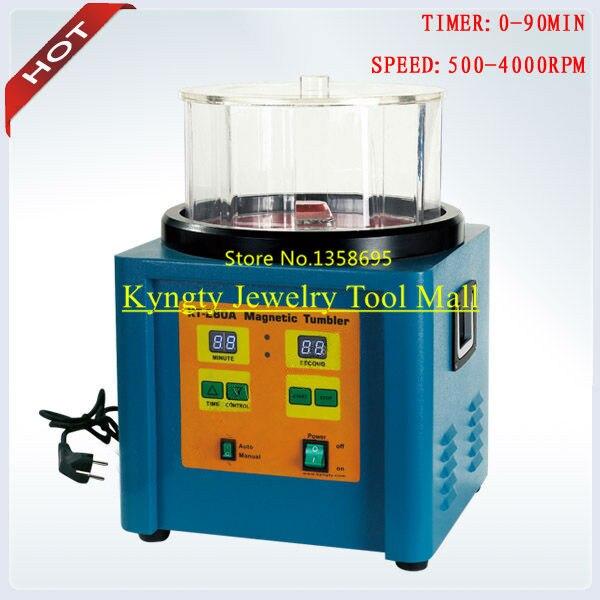Temps Tumbling 0-90 min Capacité 1100g Bijoux De Polissage Machine Tumbler Magnétique Bijoux Machine