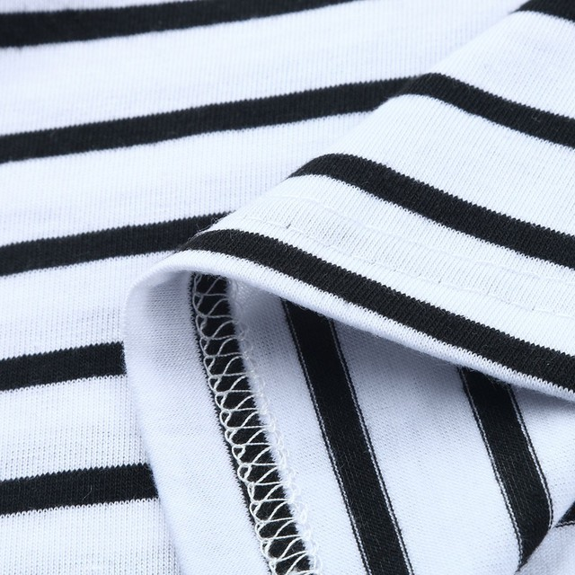 Maternity Short Sleeve Striped Top