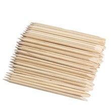 Pusher orange кутикулы палочки remover деревянные маникюр nail art инструменты ногтей