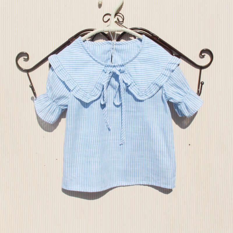 2019 Verão Meninas teenages Blusa Blusas E Tops de Algodão Branco Camisas Para Menina Da Escola Dos Miúdos Da Criança Do Bebê Roupas Infantis 3 -15 Y