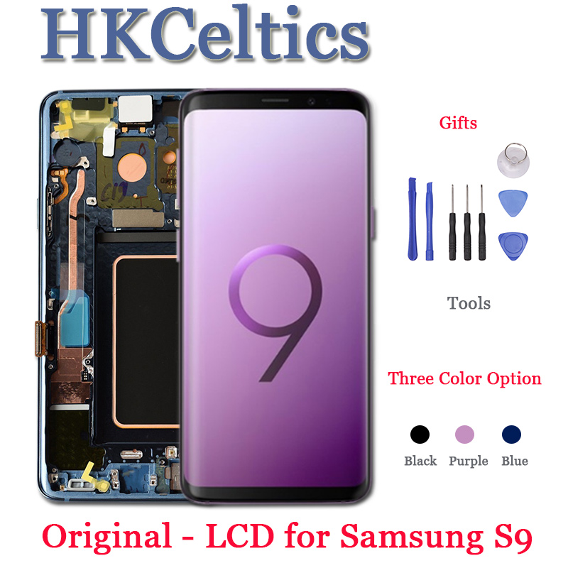 ORIGINAL AMOLED Replacement Parts For SAMSUNG Galaxy S9 S9+LCD Dsiplay And Touch Screen Digitizer With Frame G960 G965 Display