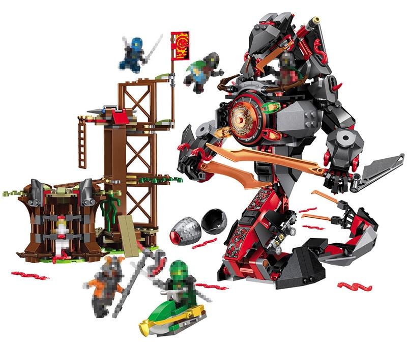 LELE 734 pièces nouvelle série Ninja meilleurs blocs de construction techniques ensembles Ninja VS serpent Boss le temps armure serpent jouets préférés