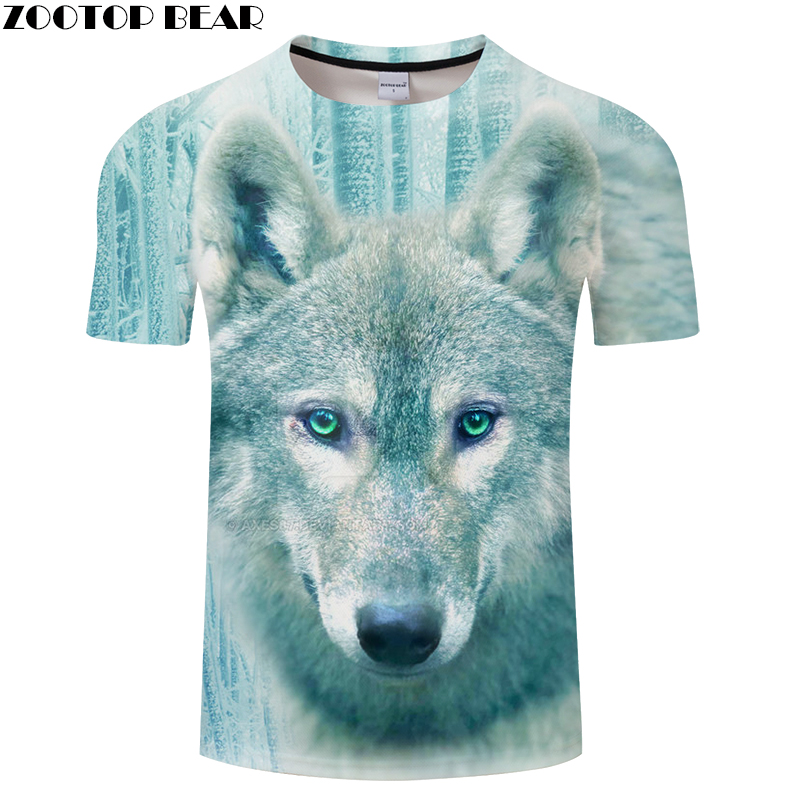 Winter Wolf Printed shirt Men Casual t shirt Unisex 2018 Summer O-neck Short Sleeve Camisetas Hombre Drop Ship ZOOTOP BEAR