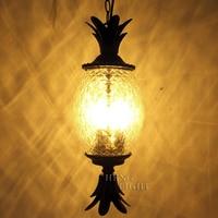 Европейский цветок подставка из дерева коридор лампа балкон подвесной светильник для внутреннего открытый водонепроницаемый фонарь свето