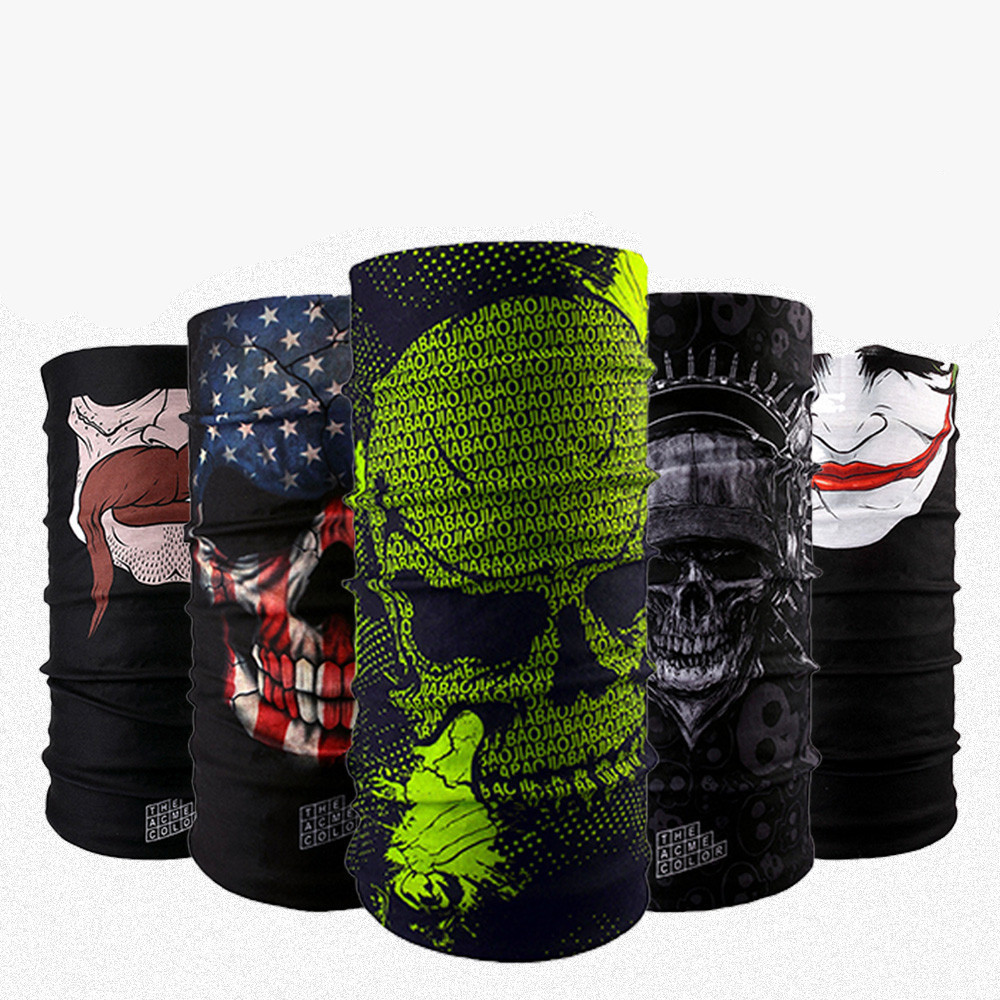 401 430 12pcs wholesale cool skull bandana multifunctional