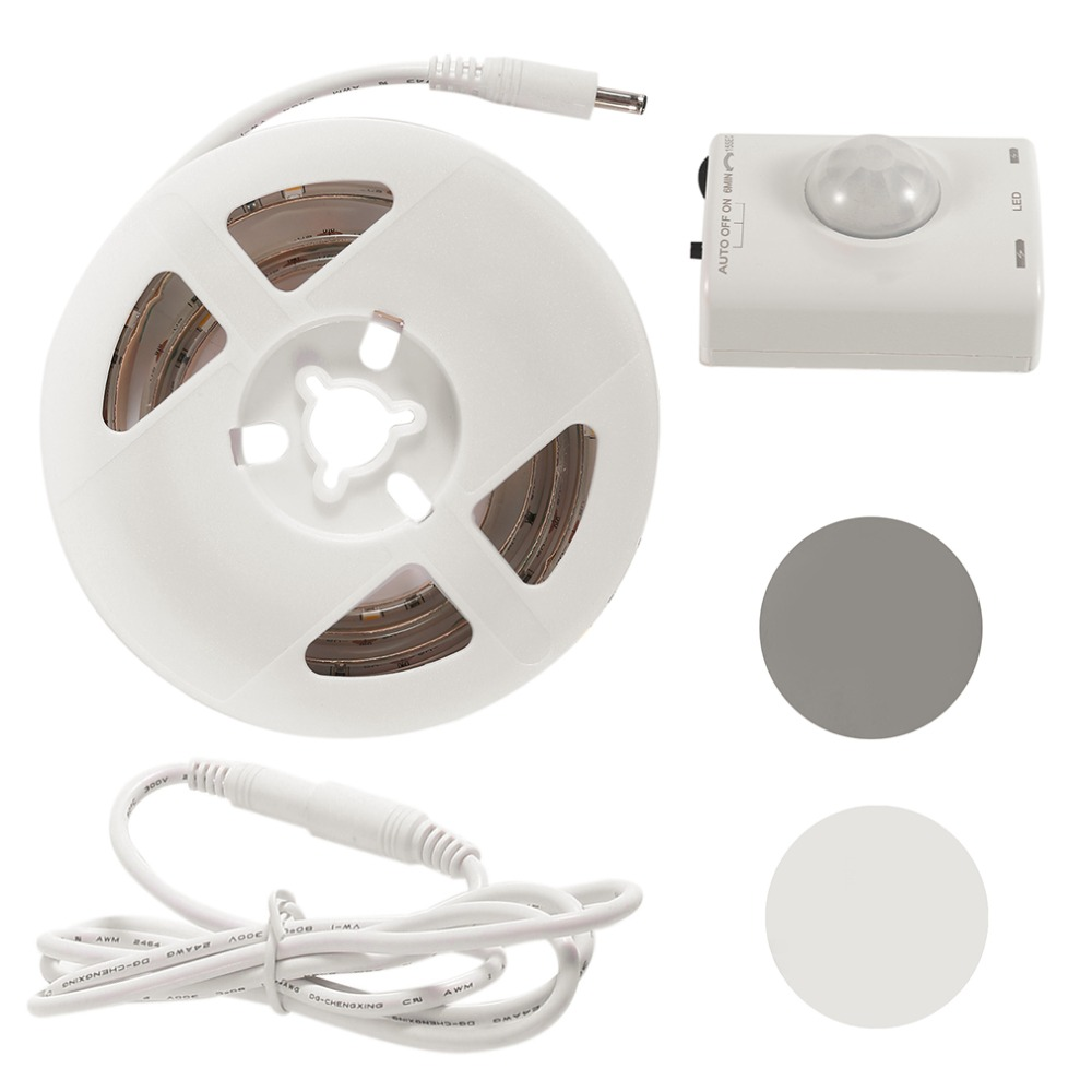 Lmid SMD 2835 гибкие Светодиодные ленты свет с движением Сенсор светодиодный IP65 Водонепроницаемый 2700 К Ночные светильники для Спальня лестница к...
