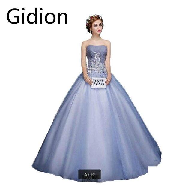Vestido De Novia ball gown lavender pleated flower prom dress ...