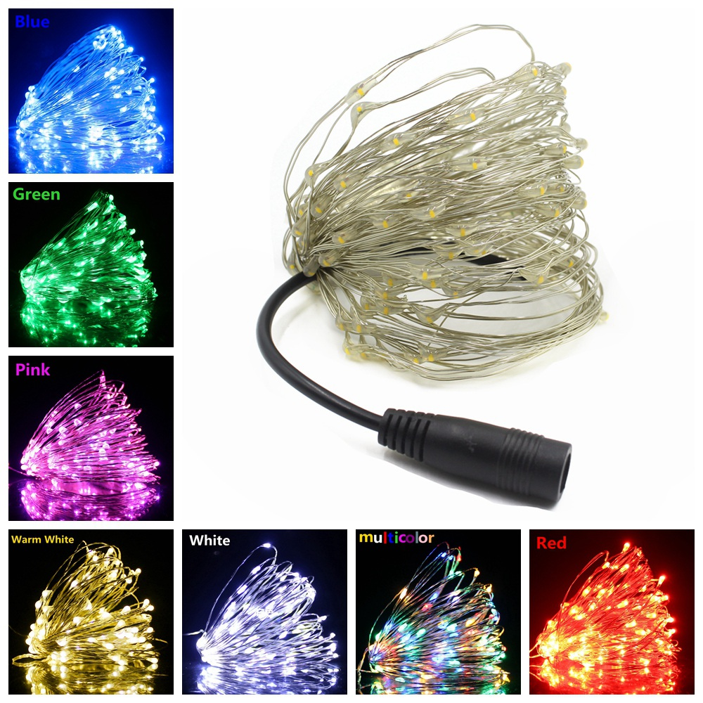 5M 10M 20M 50M DC12V Powered LED String Lights Fairy Light Night Lamp For Christmas Holiday Wedding Garland Party Decoration