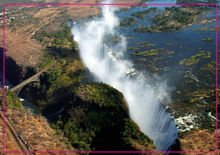 Free Shipping over $12,Victoria falls in Zimbabwe Rectangle Metal Fridge Magnet 5527 Tourism Souvenir aspects in urban layout design in zimbabwe