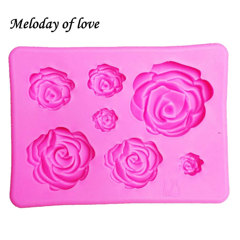 3D Силиконовая форма в форме розы, форма для мыла, конфет, шоколада, льда, цветов, украшения торта, инструменты T1023