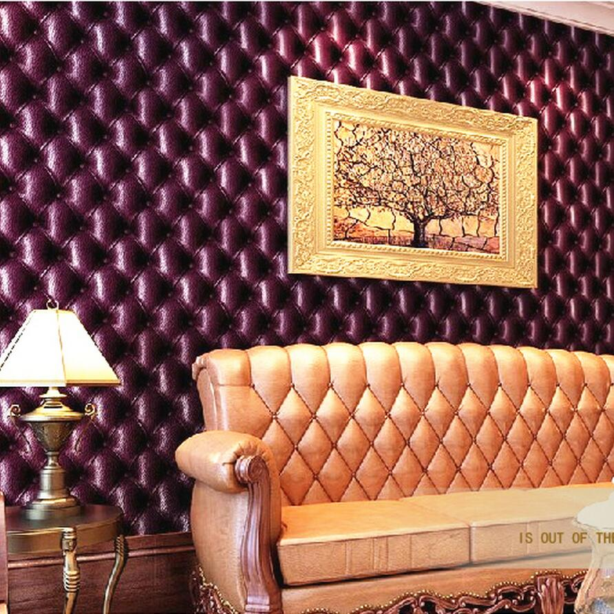 Luxury fashion leather 3d stereotelevision wall wallpaper brief bag wallpaper