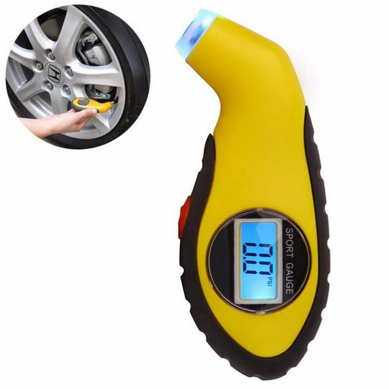 Digital Tyre Pressure Gauge Portable Mini LCD Tire Air Pressure Checker for Car Motorcycle Convenient and Practical Bike