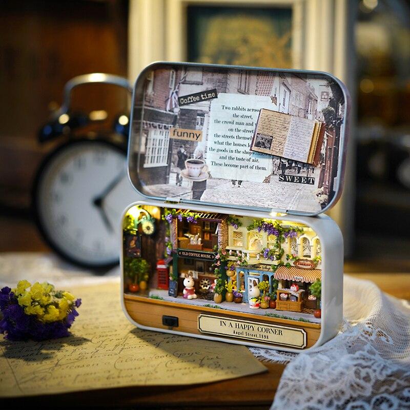 Meubles bricolage maison de poupée Wodden Miniatura maisons de - Poupées et accessoires - Photo 3