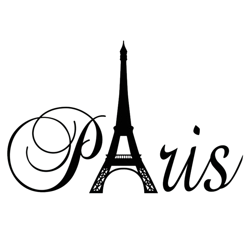 popular eiffel tower decal black buy cheap eiffel tower decal black lots from china eiffel tower. Black Bedroom Furniture Sets. Home Design Ideas