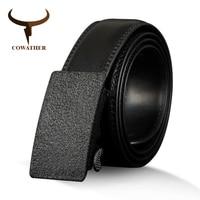 COWATHER Cow Genuine Leather Men S Belt Vintage Cowhide Belts For Men High Quality Male Strap