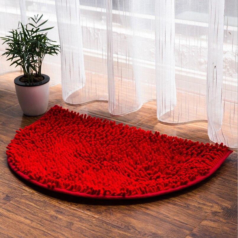 simple half round antislip bath balcony water adsorption carpet
