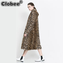 2019 Leopard Faux fur coat long female long coat fur jacket women winter jacket women jacket with fur woman clothes(China)