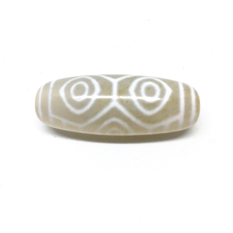 Rare Patterns Dragon Eyes 12mm 38mm White Color Natural Agate Amulet Dzi Beads for Bracelet DIY