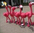 Nuevo color de rosa flamencos aves marioneta de peluche de juguete de la fauna pájaro Animal de la simulación toy bebé