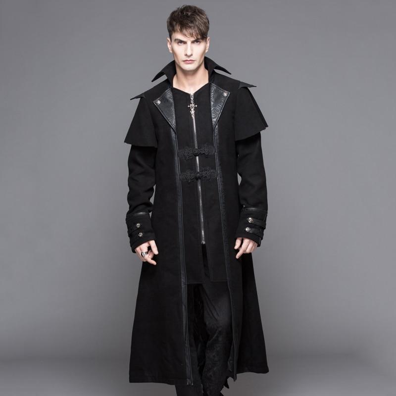 Ördög divat Steampunk őszi téli férfi gótikus hosszú kabátok - Férfi ruházat