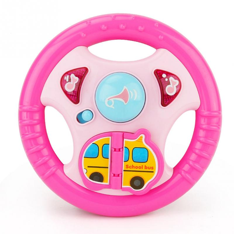 Boardbble Cartoon Steering Wheel Music Toy Baby Child Recovery Toys Children Fun Toy Birthday Gifts