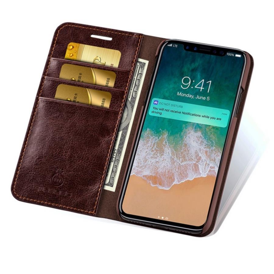 Musubo Genuine Leather Phone Cover For iPhone 8 Plus Luxury Card Holder Wallet Case for iPhone