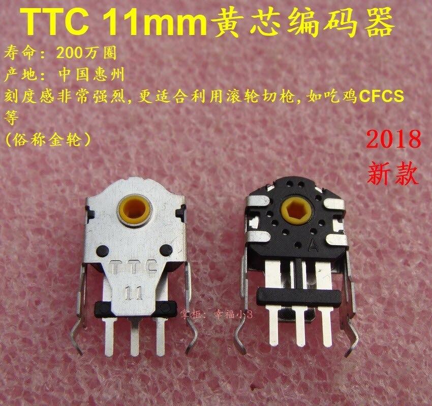 2018 Latest Model 1pc Original TTC 11mm Yellow Core Mouse Encoder For Taipan 8200DPI  RIVAL 300 Abyssus 2014 Naga Long Lifetime