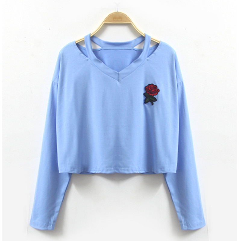 t shirt womenThe new high quality fashion autumn hot style is a long sleeve T-shirt with a short long sleeve of the European